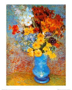 'Vase of Flowers, c.1887' by Vincent van Gogh ○ #art