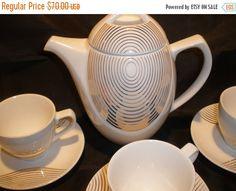 Art-Deco-Tee-Set moderne Kaffee Set von EuphoricDepressions auf Etsy