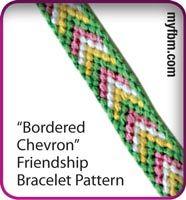 Friendship Bracelet Pattern Bordered Chevron Design