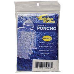 Chaby International 5100 Clear Emergency Rain Poncho