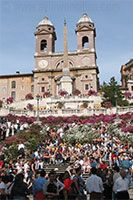 The Spanish Steps in Rome are wonderful to sit and relax at nearly any time of the year. Full of life and energy; a place of gathering in an old city.
