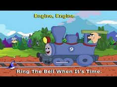 Engine Engine Number 9 | Kids Rhymes with Lyrics (+playlist)