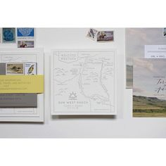 Custom map and invitation by Cast Calligraphy. Bozeman Montana.