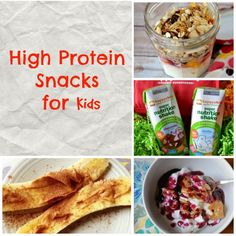Healthy High Protein Snacks for kids - perfect for easy breakfasts, snacks, or lunch boxes!