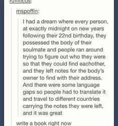 Well what happens when they're possessed and the other person is obviously not born on the same day or year