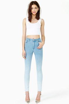 Acid Fade Skinny Jeans by Nasty Gal