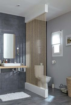 Bathroom Remodeling Ideas - Search shower room styles and also enhancing concepts. Discover inspiration for your washroom remodel, consisting of colors, storage, designs and also company. Partition Design, Movable Partition, Partition Screen, Interior Design Boards, Bathroom Interior, Bathroom Remodeling, Remodeling Ideas, Contemporary Decor, Bathroom Inspiration