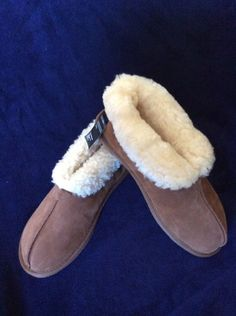 M&S Man REAL SHEARLING FreshFeet with Anti-Bacterial SILVER SLIPPERS UK11BNWT Be