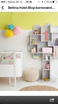 Hylde arrangement til børneværelse