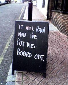 Funny Chalkboard Sign