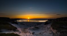 Sun setting from Aird beach on the isle of Mull https://www.isleofmullselfcatering.co.uk
