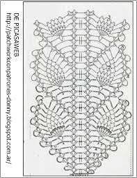 Resultado de imagen para esquemas de camino de mesa sencillo a crochet
