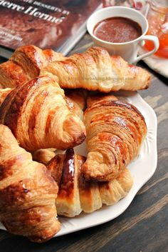 Chocolate dust: Pierre Herme's croissants