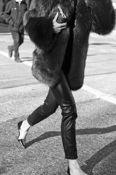 Fur, leather and flats: Keel's Style