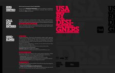 USA BY DESIGNERS CALL FOR ENTRIES!
