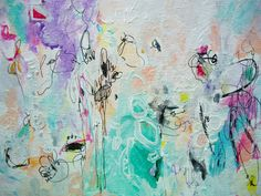 Imagine Mixed Media Original 10x8 Canvas Bright by ArtbyAutumnRose, $89.00