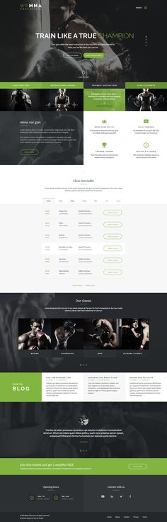 Buy WP MMA - Gym & Fitness HTML Template by XenoThemes on ThemeForest. WP MMA is a HTML Template designed for Gym, Fitness Centre, Personal trainer, Sports club, Health Club or any other k. Design Poster, Ad Design, Branding Design, Website Layout, Website Ideas, Website Designs, Cv Web, Mma Gym, Creation Site