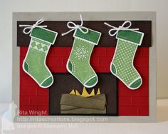 Stitched Stockings w/ Simply Scored - Stampin' Up!