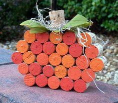 Festive Fall Wine Cork Pumpkin