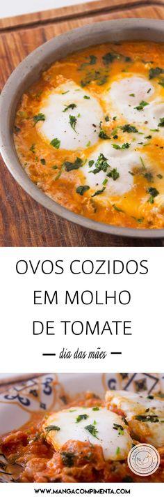 Receita de Ovos Cozidos em Molho de Tomate |Shakshuka - prepare para Dia das Mães. #receitas #diadasmães