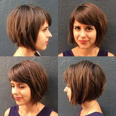 """It can not be repeated enough, bob is one of the most versatile looks ever. We wear with style the French """"bob"""", a classic that gives your appearance a little je-ne-sais-quoi. Here is """"bob"""" Despite its unpretentious… Continue Reading → Stacked Bob Hairstyles, Medium Bob Hairstyles, Short Hairstyles For Women, Pretty Hairstyles, Pelo Color Gris, Lob Hairstyle, Hairstyle Ideas, Glamorous Hair, Hair Today"""