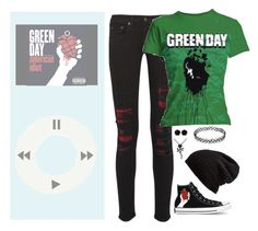 """""""Green Day contest entry"""" by unorthodox-me ❤ liked on Polyvore featuring rag & bone, Converse, CO, Erica Lyons and Free People"""