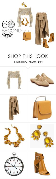 """""""60 Seconds to Style"""" by lovetodrinktea ❤ liked on Polyvore featuring Alice McCall, Robert Clergerie, Faith Connexion, Lautēm, J.Crew, Chloé, asymmetricskirts and 60secondstyle"""