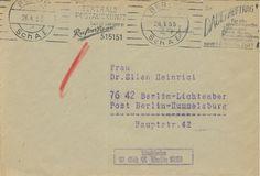 Postscheckamt Berlin NW (Ost) 26-04-1955 Maschinenstempel siehe Berlin NW (Ost) 05-04-1954