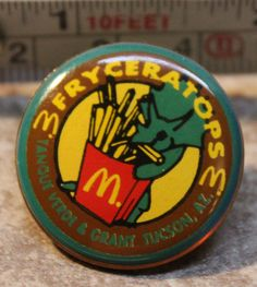 McDonalds Fryceratops Triceratops Dino Tucson AZ Collectible Pinback Pin Button #McDonalds