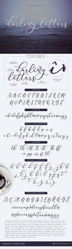 NEW! Darling letters font by howjoyful on @creativemarket