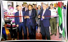 Mr. Bhaskar Sarkar, Executive Director & Secretary, EEPC India (left) and HE Mr Omar Malhas, Minister of Finance, Hashemite Kingdom of Jordan inaugurating 13th JIMEX exhibition in Amman, Jordan