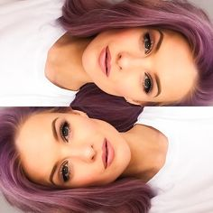 @inthefrow My favourite go-to makeup   Laura Mercier Silk Creme Foundation, Tarte Tartette Palette, Lancôme Hypnose Doll Eyes mascara, Eyeko eye do liner, Mac Soar Lip Pencil, Hourglass Femme Nude lipstick in Nude, Anastasia Beverly Hills Contour Palette, ABH Dipbrow in Soft Brown, *Purple Hair, Lilac Hair, Hairstyles