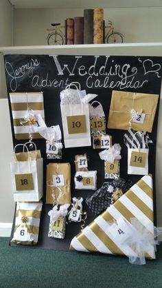 Wedding advent calendar -- such a great idea! Open a present leading up to you wedding date