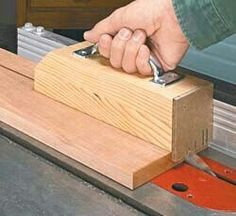 Tablesaw push block ~ saves the fingers!