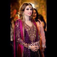 Purple Pakistani outfit