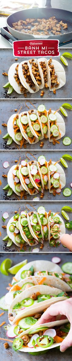 Want something different for taco night this week? These Vietnamese Bahn Mi Street Tacos from @spicyperspectiv are the perfect dinner solution! They're all the bold flavor you crave from across the globe - aromatic bahn mi marinade, paired against fresh lime and veggies - these tacos are what dreams are made of! Don't miss these!