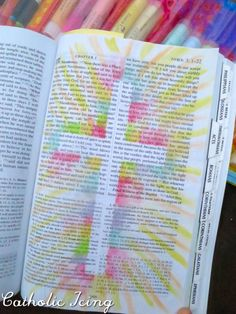 bible journaling- rainbow cross