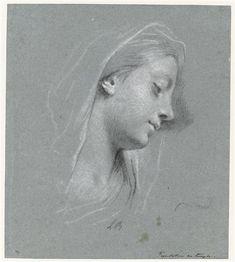 Pietro Dandini | Femme de profil coiffée d'un foulard | Images d'Art