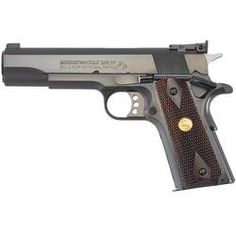 CLASSY AND ACCURATE Colt Gold Cup National Match Semi Auto Pistol .45 ACP 5 Barrel 7 Rounds Walnut Grips Blued O5870NM
