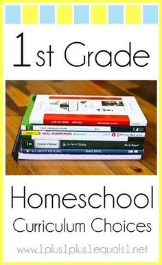 1st Grade Homeschool Curriculum Choices from 1+1+1=1