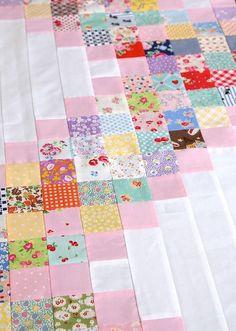 DIRECTIONS Scrappy Irish Chain Quilt Pattern http://messyjessecrafts.blogspot.com/2014/03/scrappy-irish-chain-quilt-pattern.html?spref=pi