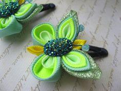 Mariposa brillante 2 pelo clip niños pelo pin por SummerForYou