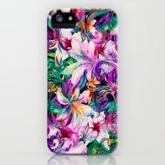 Seamless Floral And Paisley Pattern iPhone (5, 5s) Slim Case
