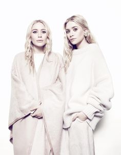 mary kate ashley3 Mary Kate & Ashley Olsen Pose Together for NET A PORTER Feature