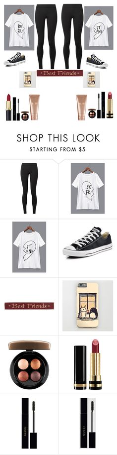 """""""Best Friend"""" by merebear108 ❤ liked on Polyvore featuring The Row, Converse, DutchCrafters, MAC Cosmetics, Gucci and La Mer"""