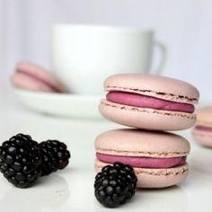 Scrumptious blackberry macarons