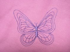 Strojová výšivka -motýl 3
