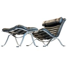 Super Ari Lounge Chair With Ottoman, Arne Norell Great Ideas