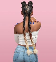 49 Amazing Lemonade Braids Hairstyles For 2018 That Attract Your Friends - Fashionuki Box Braids Hairstyles, Lemonade Braids Hairstyles, Hairstyles 2018, Protective Hairstyles, Kids Braided Hairstyles, Protective Styles, Black Girl Braids, Braids For Black Hair, Two Braids