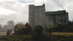 Arriving at Castle Leoch.